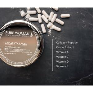 HECH Pure Woman Caviar Collagen, hochdosiertes marines
