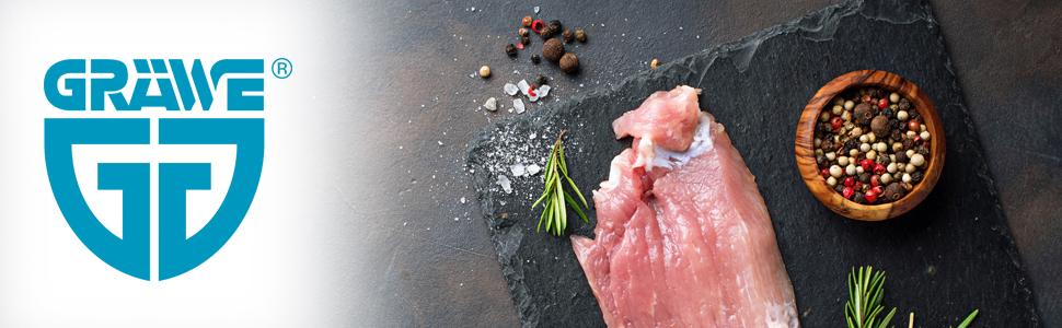 Sp/ülmaschinenfest Fleischplattierer Edelstahl Koteletts Schnitzelklopfer Winzbacher/® Fleischklopfer Plattiereisen Steaks u.v.m. 2 Schlagfl/ächen ideal f/ür Schnitzel Fleischhammer