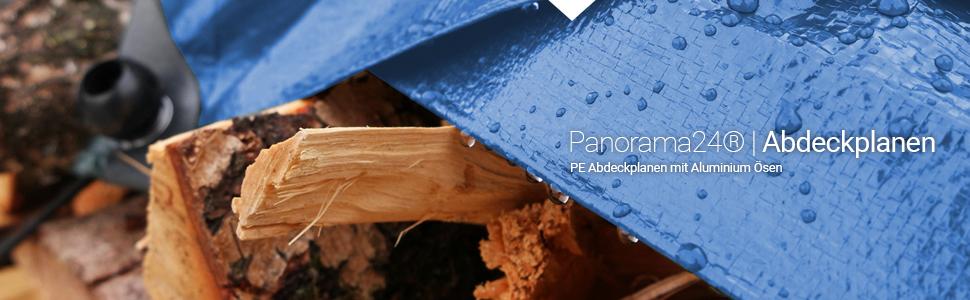 Gewebeplane 21m/² mit Aluminium /Ösen blau sch/ützt Gro/ßfl/ächig vor Feutigkeit /& Schmutz Holzplane Wetterschutzplane Panorama24 PE Abdeckplane 3 x 7 m