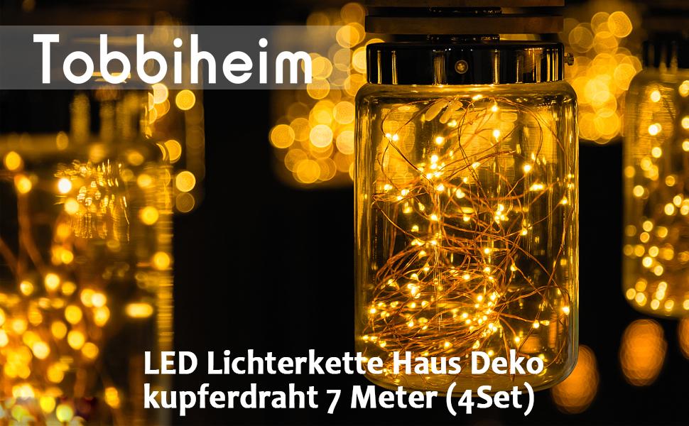 batterie lichterketten außen 50 led