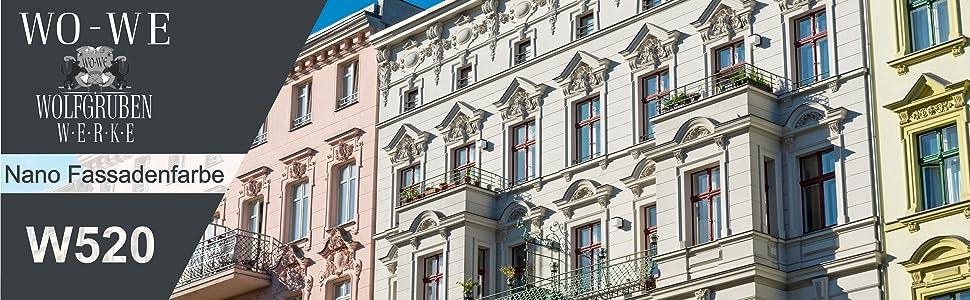 Aussenfarbe Nano Fassadenfarbe Mit Abperleffekt Dispersion Weiss 10l Fassade