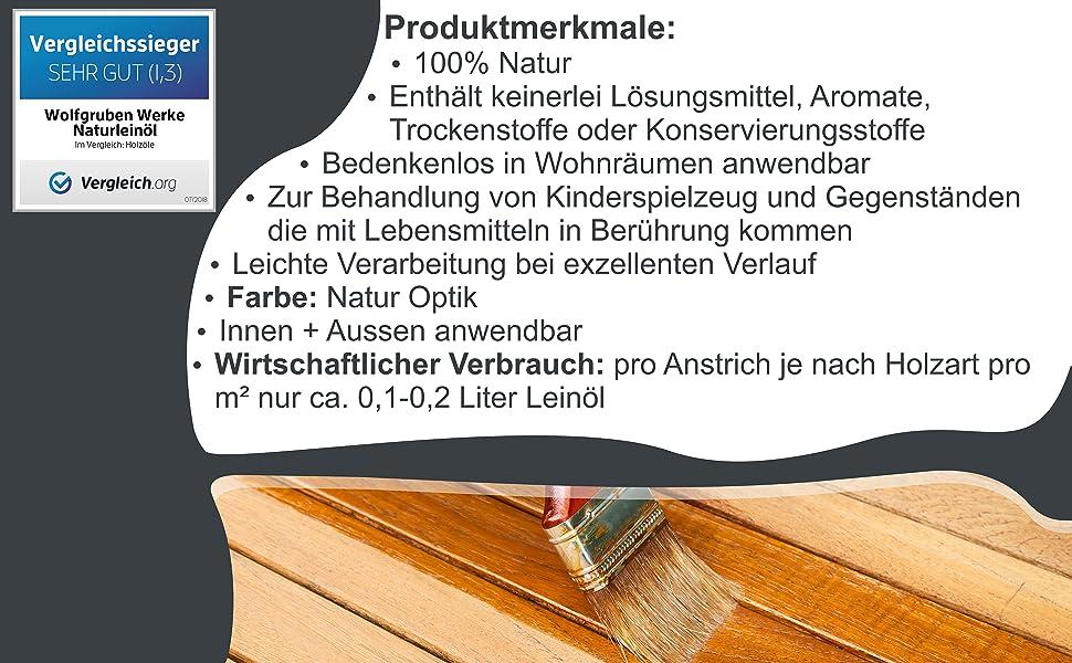 10l Natur Leinol Holzol Holzschutz Holzpflege Pflegeol Holz Olen