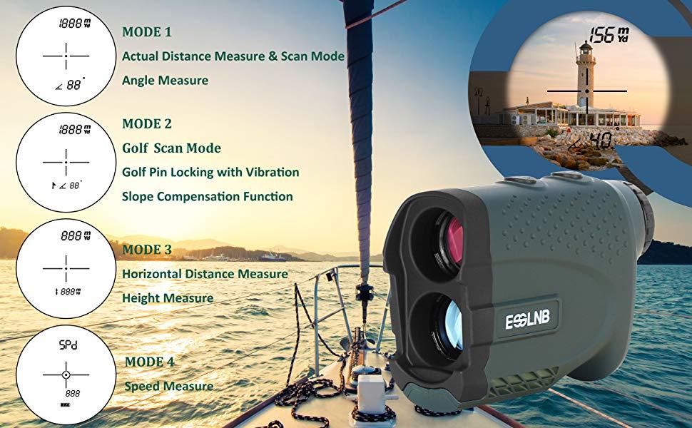 Entfernungsmesser Mit Winkelmessung : Esslnb entfernungsmesser jagd golf laser rangefinder 7x: amazon.de