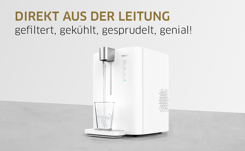 wassersprudler brita yource pro top elektronisch mit co2 zylinder mit filter k hlung f r. Black Bedroom Furniture Sets. Home Design Ideas