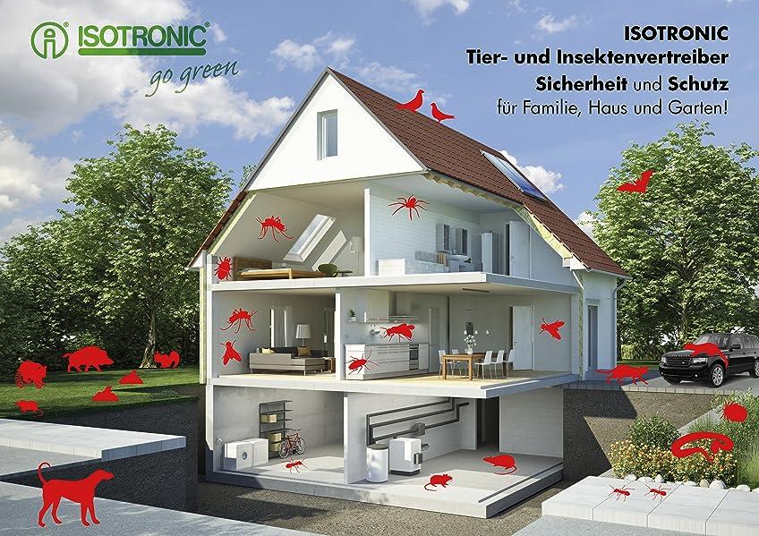 isotronic tiervertreiber katzenschreck ultraschall 2er set vogelschreck taubenabwehr abwehr. Black Bedroom Furniture Sets. Home Design Ideas