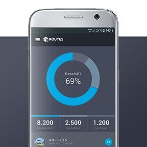 FLEETIZE Smartphone App Hauptmenü elektronisches Fahrtenbuch OBD2 GPS Tracker