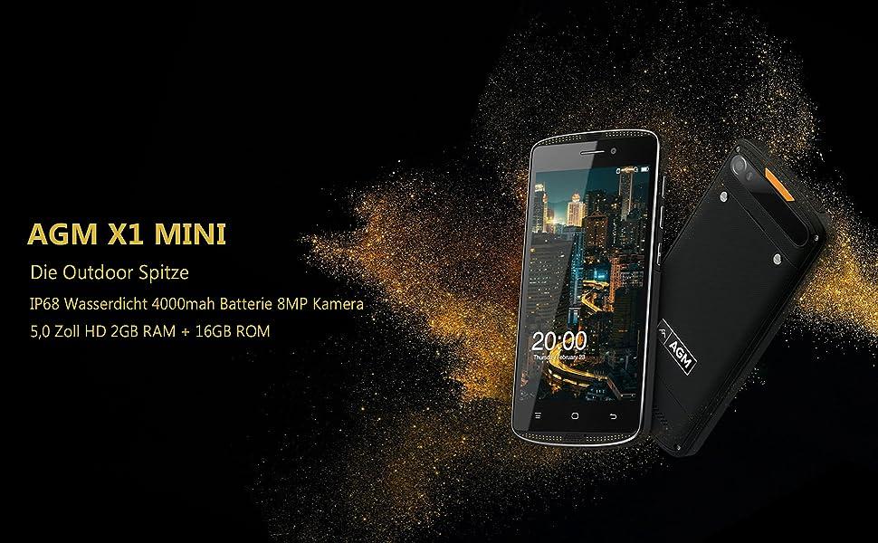 agm x1 mini smartphone 4g lte outdoor handy ip68 elektronik. Black Bedroom Furniture Sets. Home Design Ideas