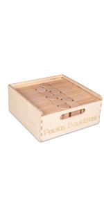 Kiste mit individueller Lasergravur