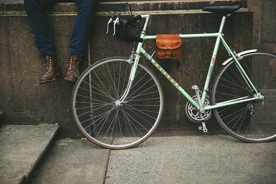 Fahrradtasche Leder Gusti Leder nature \'\'Sabine S.\'\' Rahmentasche ...