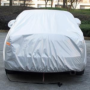 kayme Autoabdeckung Wasserdicht Bei Jedem Wetter 3XL L/änge 451 Bis 490 cm Passende Limousine Uv-Regenschutz Im Freien Mit Rei/ßverschluss-Spiegeltasche F/ür Automobile