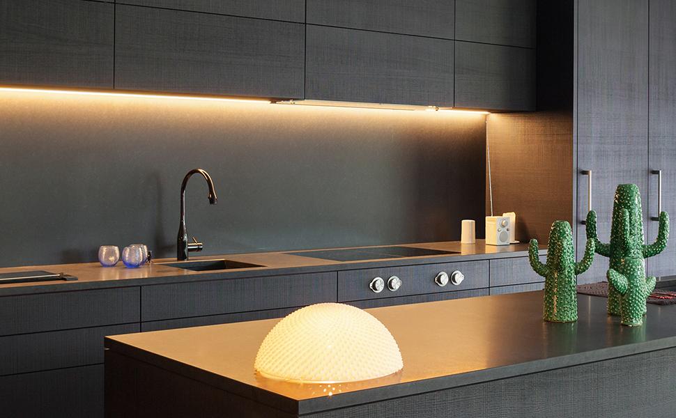 Dimmer /& Montagematerial stripeLED Unterbau LED Leisten Komplettset mit 3x 60cm