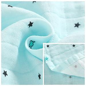 LAT Babydecke,120 x 120 cm 100/% Baumwolle Soft /& Cozy Baumwolle Babydecke,Baby Kuscheldecke,Kinderwagen Decke unisex 1 St/ück, Blaues Einhorn