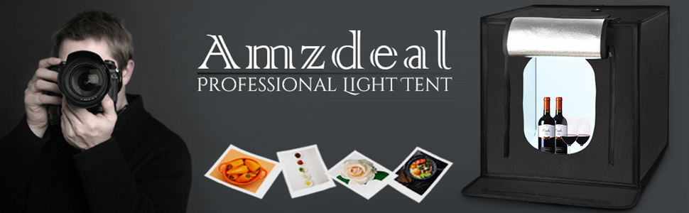Amzdeal Fotostudio Lichtzelt 60 * 60 * 60CM, Faltbar: Amazon