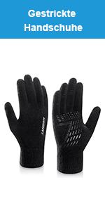 9065aa34b3624d coskefy Handschuhe Herren Damen Winter Strickhandschuhe Touchscreen ...