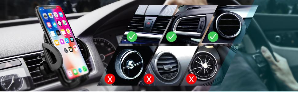 Mpow Handyhalterung Auto Lüftung, Handyhalter fürs auto ,KFZ smartphone halterung Lüftung