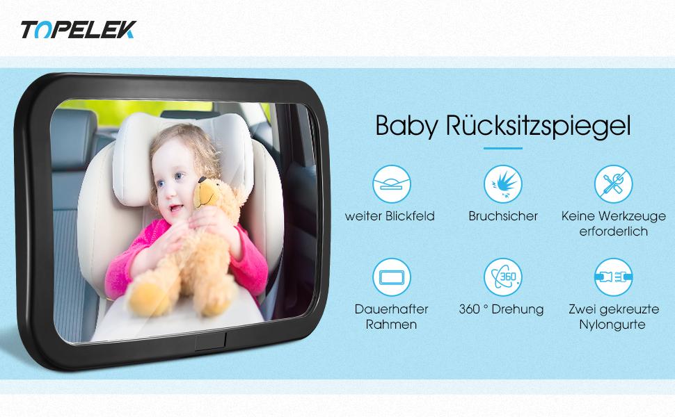 Spiegel Auto Baby : Topelek rücksitzspiegel spiegel auto baby rückspiegel baby