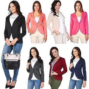 1e850e126a0596 KRISP Damen Blazer Jacke aus Weichem Stoff oder im Wildleder Stil ...