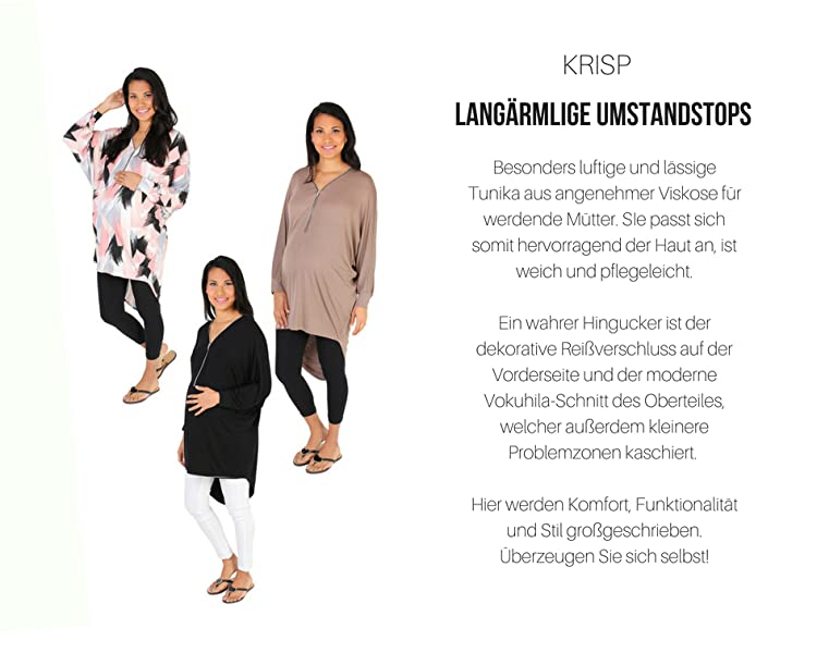 KRISP/® Umstandsmode High Low Oversize Tunika
