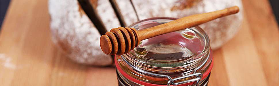 Honiglöffel aus Olivenholz Honigheber Honigspirale Honigschöpfer Honig Löffel