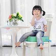 Zicac Sitzerhöhung für Baby Kinder Sitzkissen, Kinder Sitzerhöhung, eckig * Stuhl Sitzhilfe für Kleinkinder *