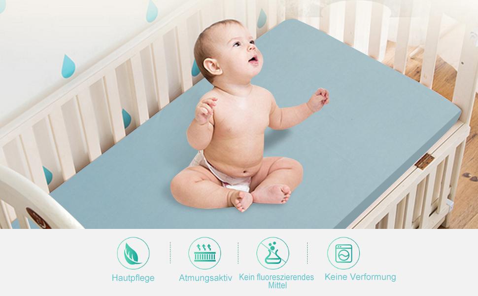 Spannbettlaken für babybett bettlaken baby cm set