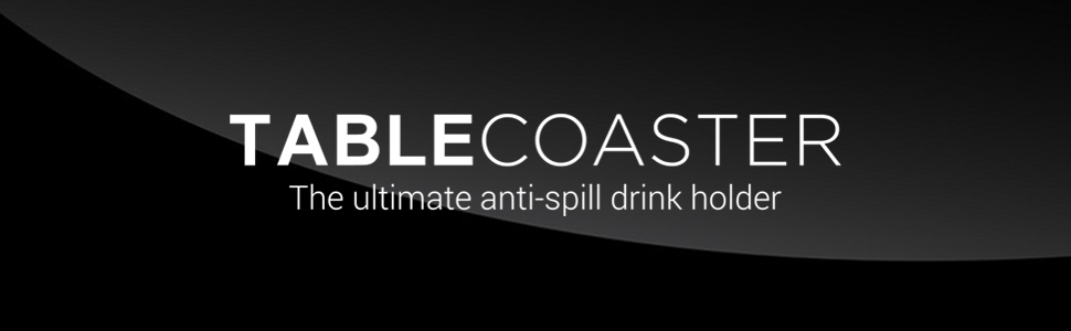 Tablecoaster The Ultimate Anti Spill Drink Holder Deep Black Küche Haushalt