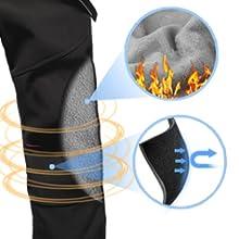 Pantalones ligeros para actividades al aire libre para mujer, pantalones de trekking largos para mujer de invierno