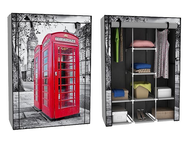 trendy home24 stoffschrank kleiderschrank mit roter. Black Bedroom Furniture Sets. Home Design Ideas