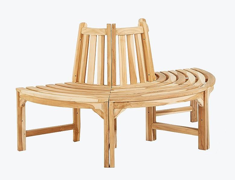 trendy home24 halbe baumbank aus teakholz massivholz holzbank gartenbank ca 150 cm. Black Bedroom Furniture Sets. Home Design Ideas