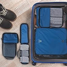 Packwürfel in Koffer