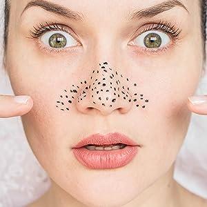große vergrößerte Poren, Mitesser, Zellproduktion, transparent, ebenmäßig, porenverfeinernd