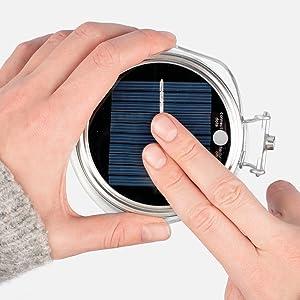 minuma led solarlampe laterne im stilvollen einmachglas micro usb anschluss und lichtsensor. Black Bedroom Furniture Sets. Home Design Ideas