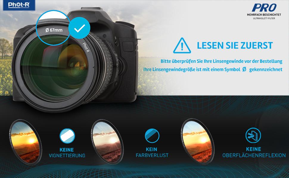 Phot R 67mm Pro Uv Digitalfilter Mehrschichtig Mehrfach Kamera