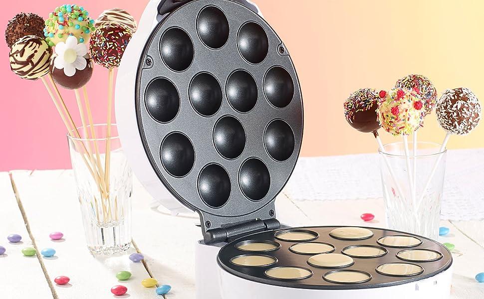 Machine à cake pops pour 12 délicieuses mini-cuisines par passage.