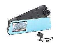 VGA-Auflösung NavGear Rückfahrkamera für HD-Rückspiegel-Dashcam NAV-200.hd