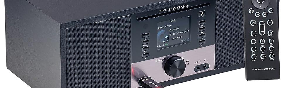 Vr Radio Stereoanlage Stereo Internetradio M Cd Player Dab Fm Farbdisplay Wecker 32 W Dab Cd Radio
