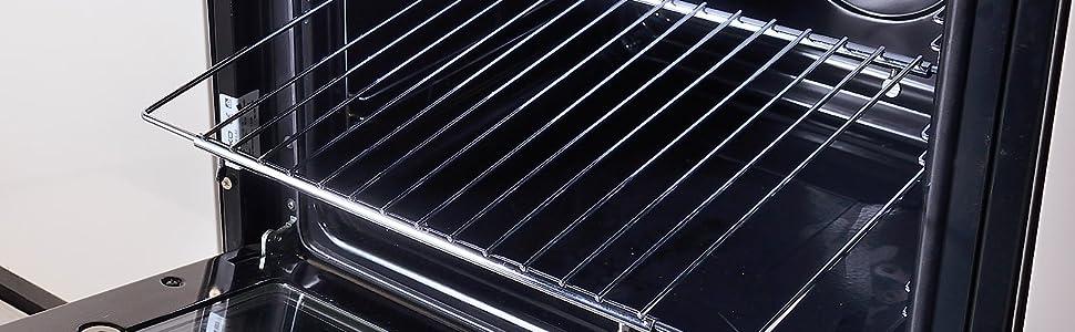 RYELDOM Ausziehbarer Backofenrost f/ür alle Back/öfen von 60 cm