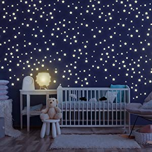 Kinderzimmer 435 Stuck Leuchtsterne Selbstklebend Punkten Und Mond Sternenhimmel Aufkleber Fur Schlafzimmer Jungen Madchen Kinderzimmer Hospaop Leuchtsticker Wandtattoo Baby Cerocero Mx