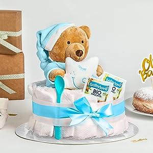Windeltorte junge jungs jungen baby party geschenk taufe geburt