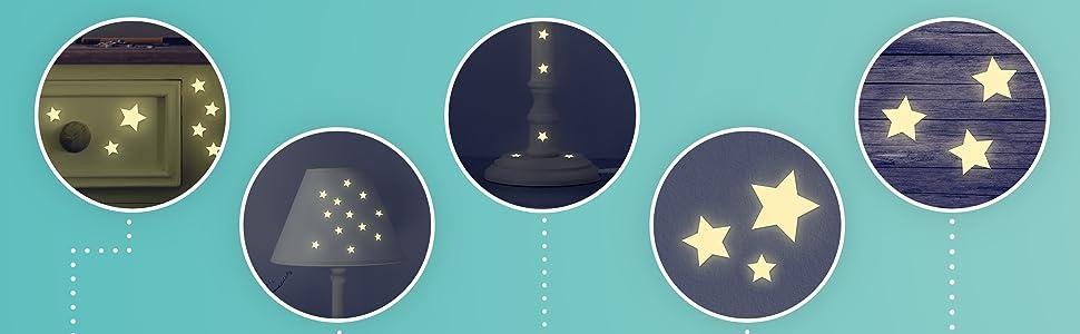 sternenhimmel aufkeber leuchtsterne