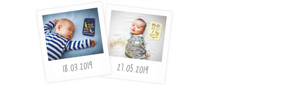 Baby Meilenstein-Karten