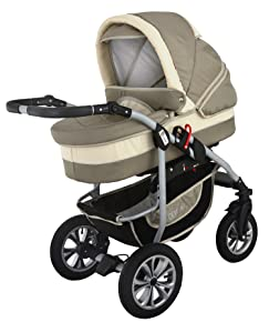 clamaro 39 coral 2019 39 kinderwagen 3in1 kombi system mit. Black Bedroom Furniture Sets. Home Design Ideas