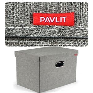 Spielzeug Schlafzimmer und Regale 45x30x30 cm PAVLIT Aufbewahrungsbox 2 st/ück mit Deckel Aufbewahrungskiste f/ür Kleidung