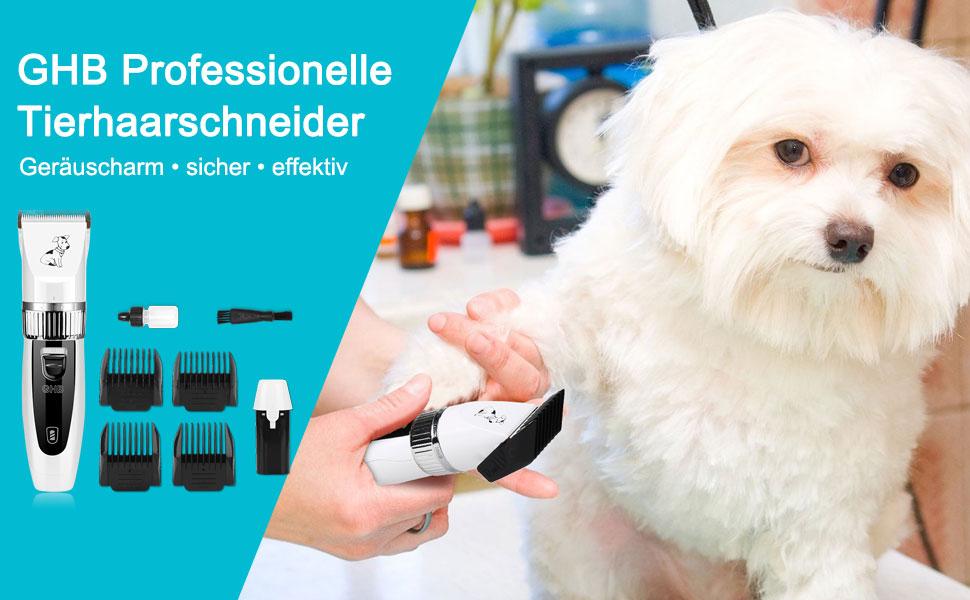 ghb tierhaarschneider hunde schermaschine hundeschermaschine hunde katzen haustier timmer mit 4. Black Bedroom Furniture Sets. Home Design Ideas
