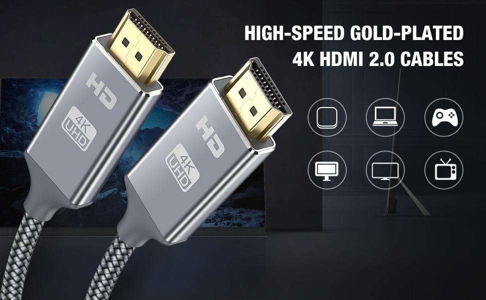 Anschlusskabel HDMI 2.0b vergoldete Steck PREMIUM zertifiziert 4K // UHD @60Hz