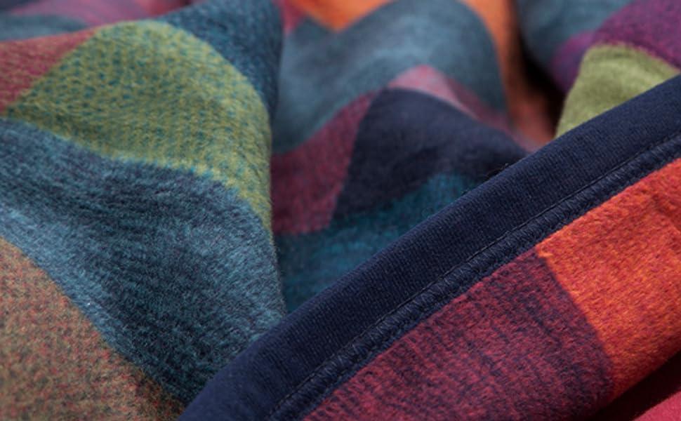 kariert mehrfarbig bunt kuscheldecke baumwolle hochwertig qualität couchdecke kuschelig
