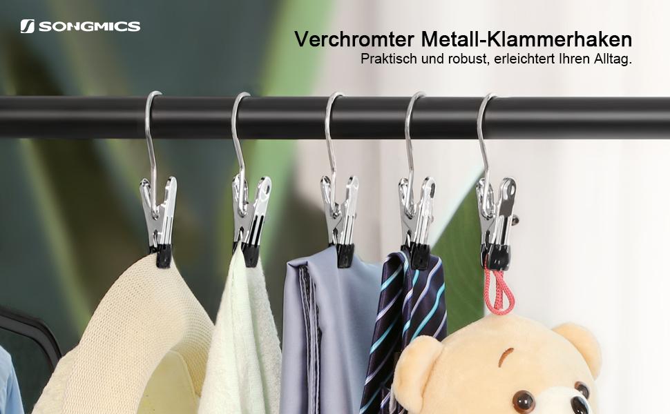 Stiefelklammern drehbar 24er Set Stiefelhalter Metall Klammerbügel Kleiderbügel