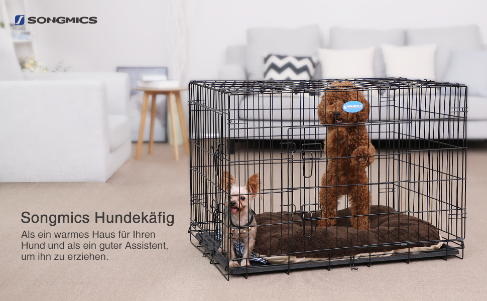 songmics hundek fig hundebox transportbox drahtk fig. Black Bedroom Furniture Sets. Home Design Ideas