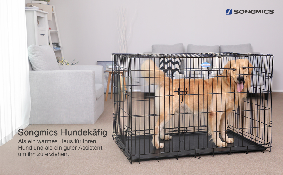 songmics hundek fig 2 t ren hundebox transportbox. Black Bedroom Furniture Sets. Home Design Ideas