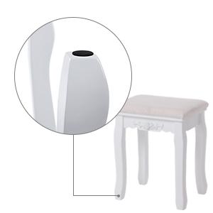 songmics wei 7 schubladen schminktisch mit spiegel und hocker inkl 2 st ck unterteiler. Black Bedroom Furniture Sets. Home Design Ideas